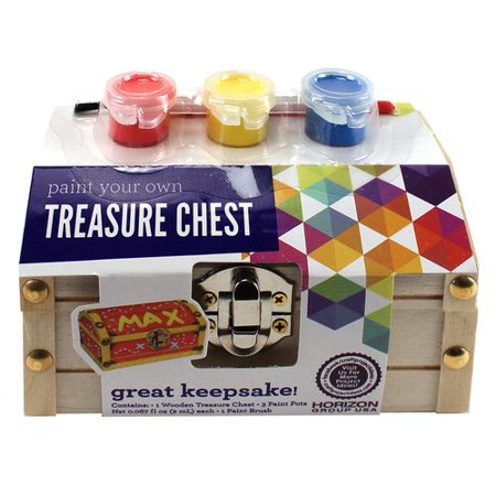 Paint Your Own Wooden Treasure Chest (Treasure Chest Craft)