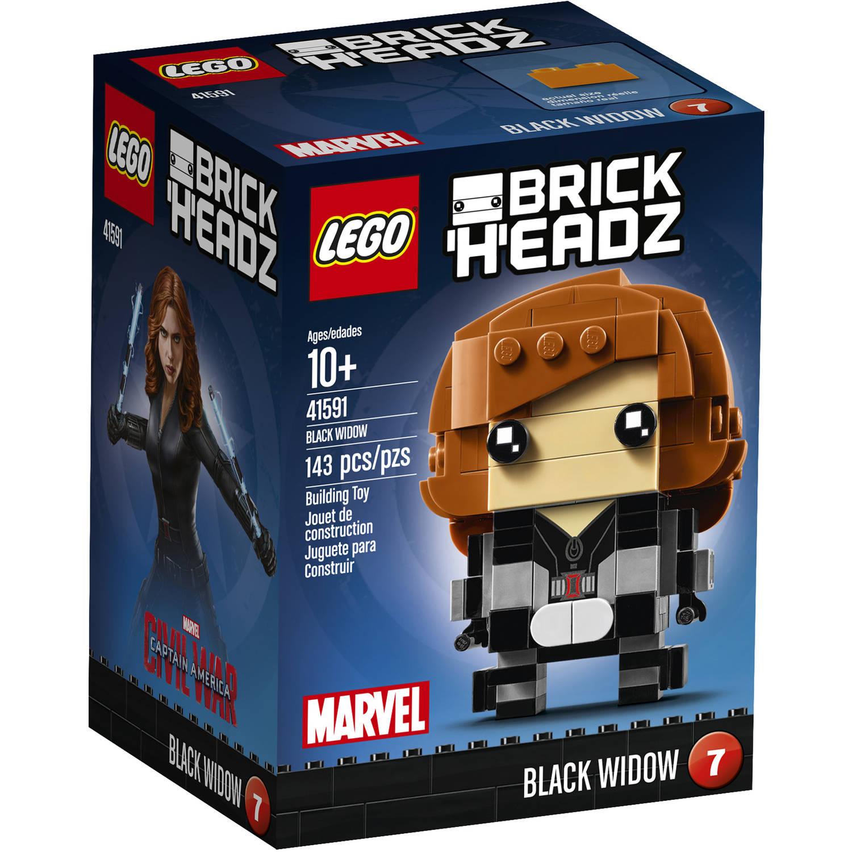 LEGO Brickheadz Black Widow 41591 Building Set (143 Pieces)