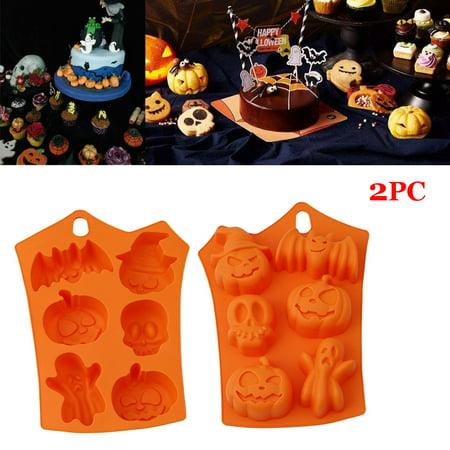 Best Halloween Bake Sale Items (Staron 2PC Happy Halloween Silicone Pumpkin Cake Silicone Mold Kitchen Bake)