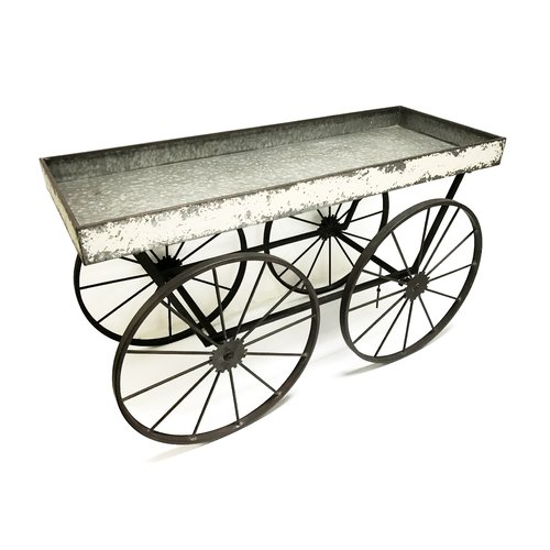 Wilco Home Shabby Elegance Flower Cart Display Plant Stand by