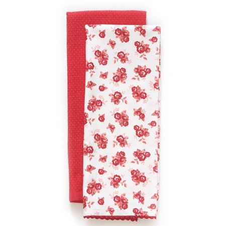 The Pioneer Woman Wild Rose Kitchen Towel, 2 Count