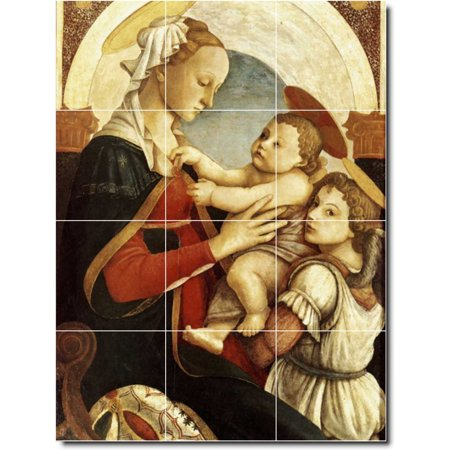 Ceramic Tile Mural Sandro Botticelli Religious Backsplash Tile Mural