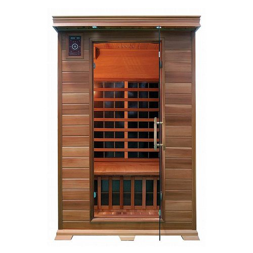 ALEKO SD2PRUT 2-Person Canadian Red Cedar Indoor Dry Infrared Sauna with 8 Carbon Fiber... by ALEKO