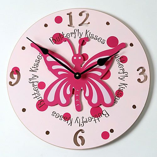 Forest Creations 18'' Butterfly Wall Clock