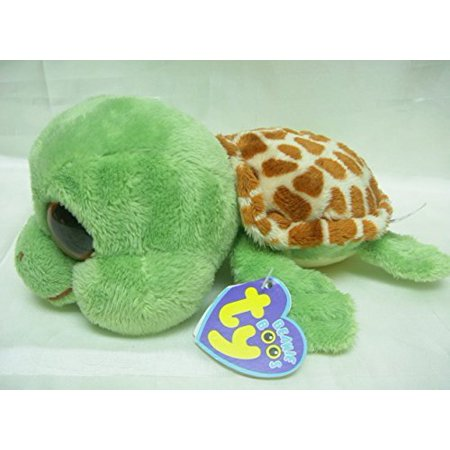TY Beanie Boos -Sandy Original Face! Yertle the Green Turtle (Glitter Eyes)  Small 6