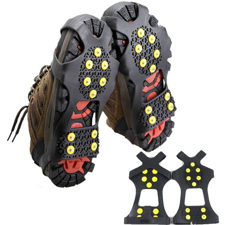 da53b983493 Portable 10-Studs Ice   Snow Grips Non-slip Traction Cleat Spikes Shoe  Cover ...