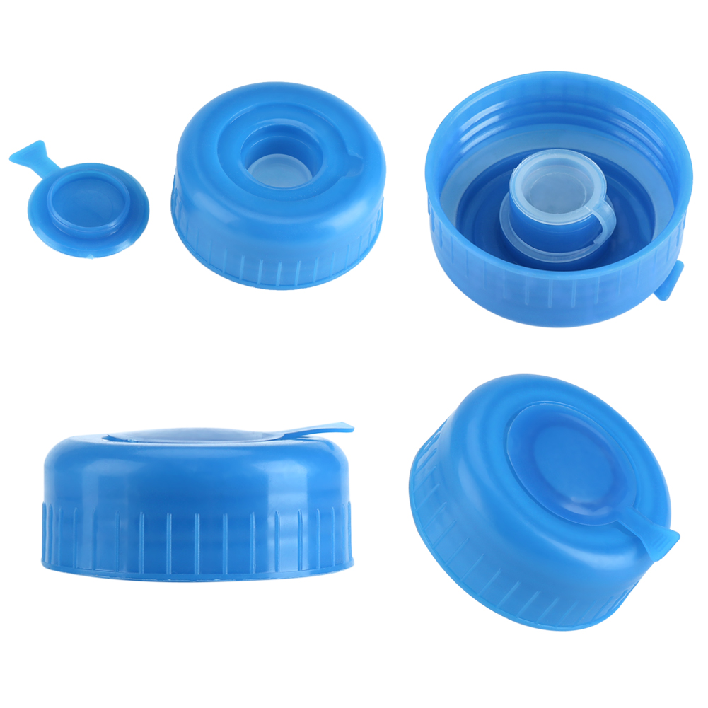5PCS 55mm 3 and 5 Gallon Non-Spill Caps,Replacement Water Bottle Snap On Cap Anti Splash Peel