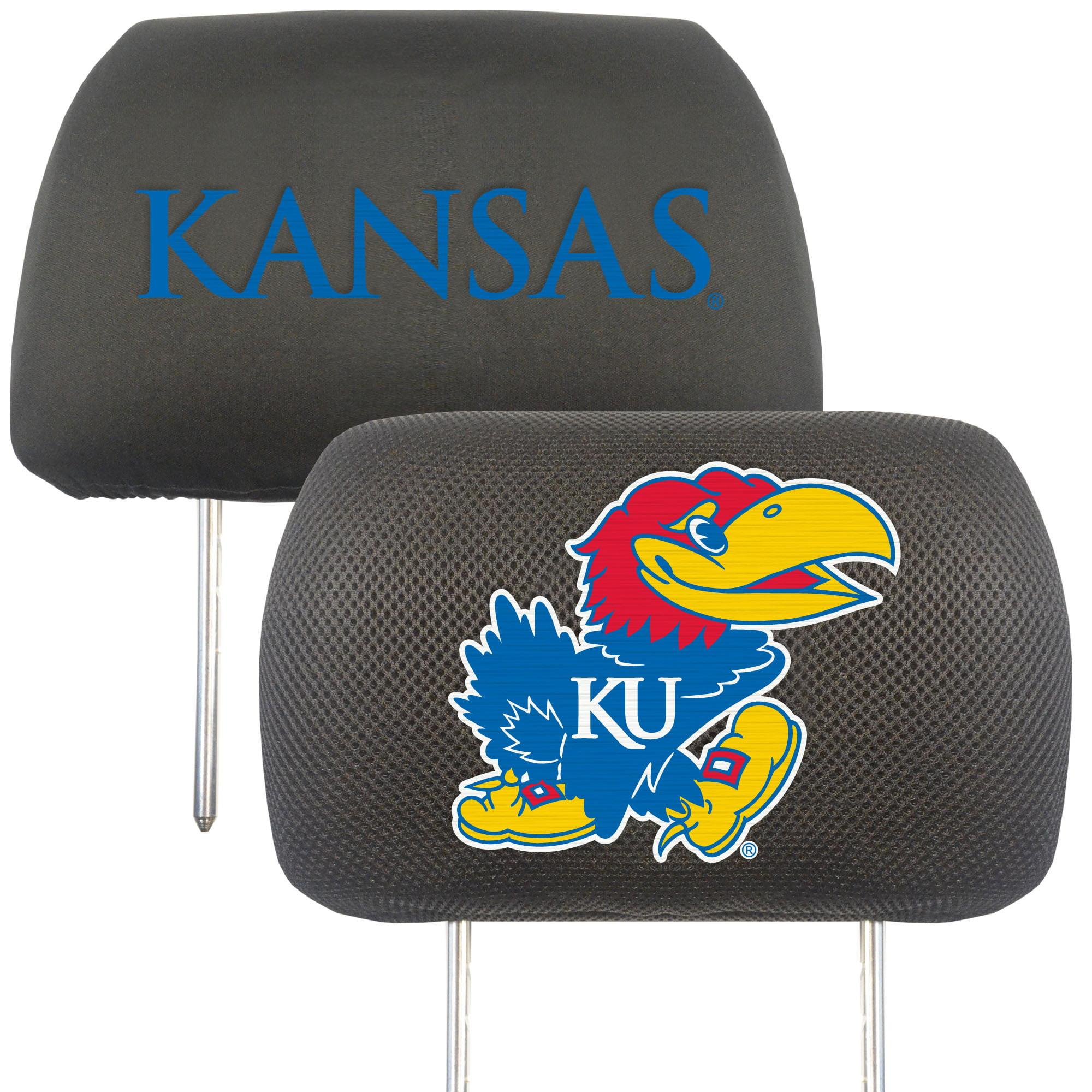 NCAA University of Kansas Jayhawks Head Rest Cover Automotive Accessory