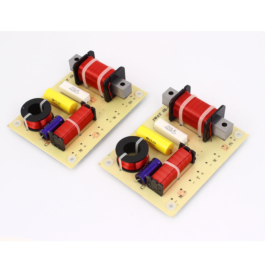 180W Crossover Filters Frequency Divider for 3-Way Speaker System Audio 2 Pcs