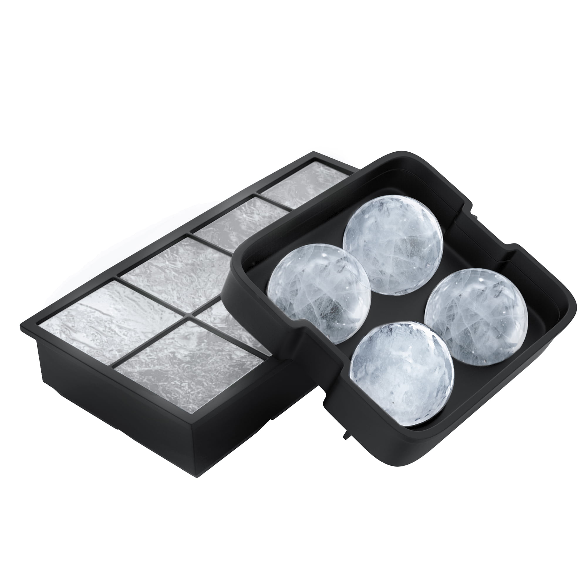 Ice Cube Tray- Silicone Slow Melting Ice Ball Mold for Whiskey ...