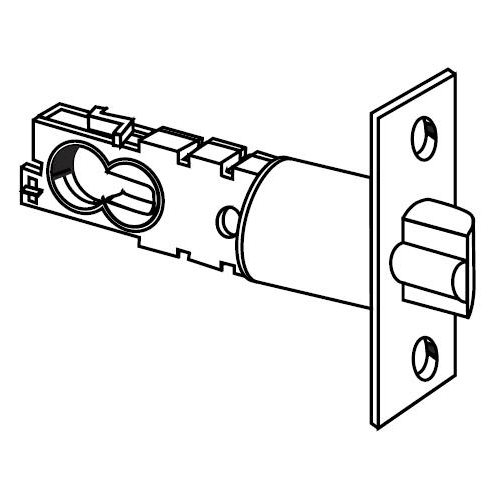 "Schlage 16-203 2 3/8"" or 2 3/4"" Replacement Deadlatch with Square Corner 1"" x 2-"