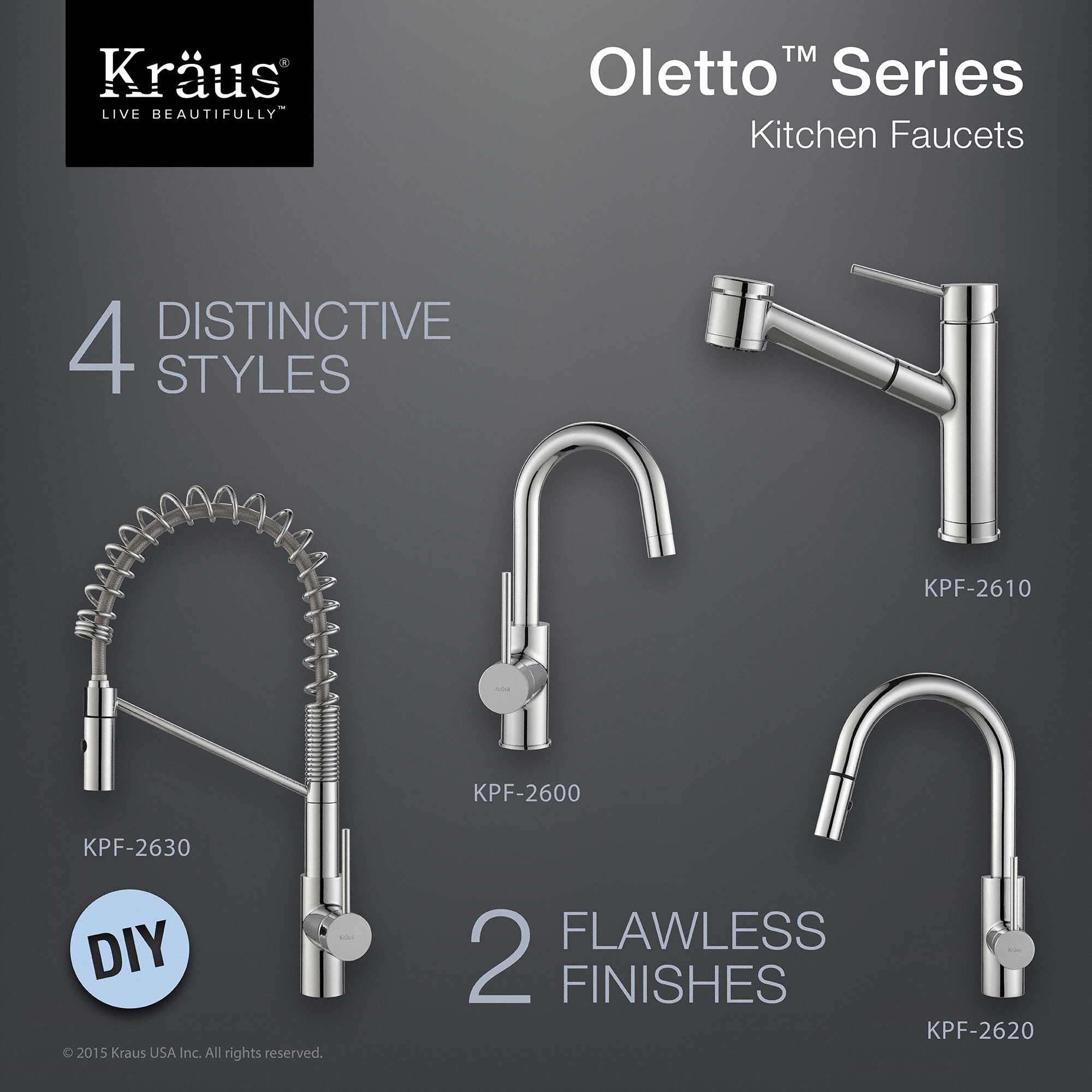 bolden kitchen kpf function down with inch faucets dual com single commercial pull faucet handle kraus kraususa