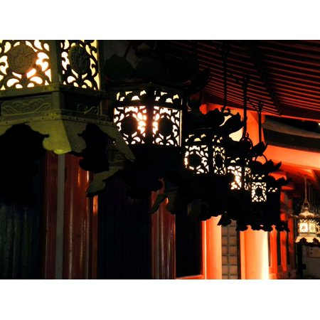 LAMINATED POSTER Lantern Outdoors Nagoya Japan Kasuga Shrine Night Poster Print 24 x 36 ()