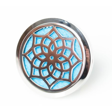Essential Oil Diffuser Aromatherapy Car Diffuser Stainless Steel Lotus Flower locket with vent clip by Izzybell Jewelry