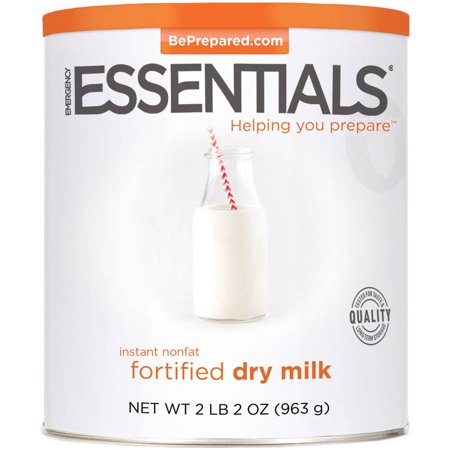 Emergency Essentials Food Instant Nonfat Fortified Dry Milk, 34 oz