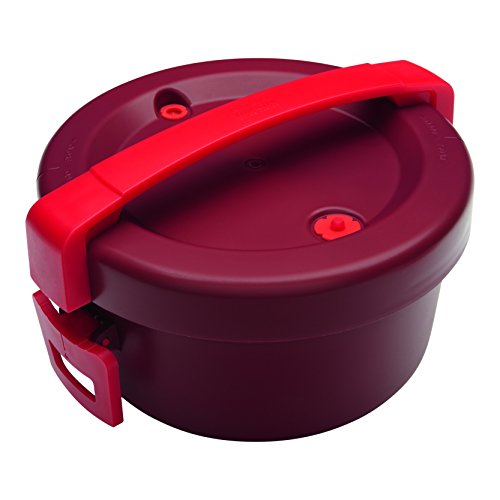 Kuhn Rikon 31581 Duromatic Microwavable Pressure Cooker, Micro, Red