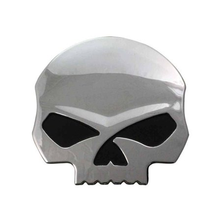 Harley-Davidson Willie G Skull Chrome Finish Hard Plastic Decal DC1199062, Harley Davidson (Harley Davidson Small Stickers)