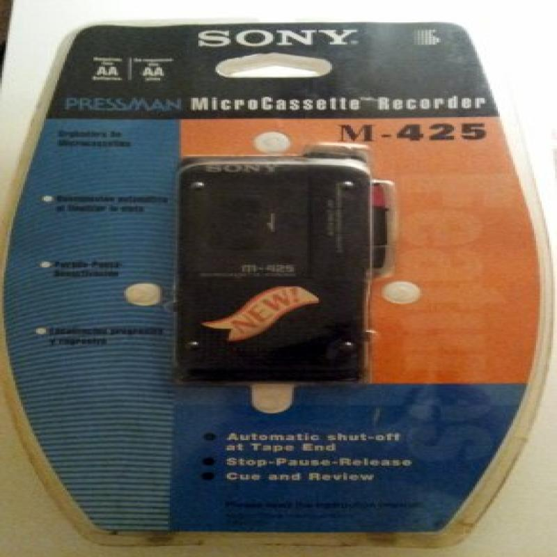 SONY Pressman M-425v Microcassette Recorder VOR