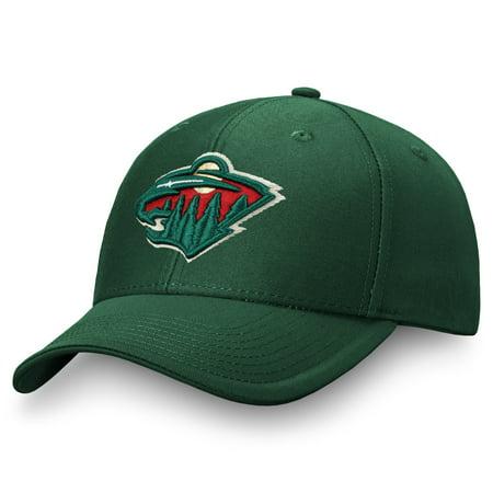 Men's Fanatics Branded Green Minnesota Wild Adjustable Hat -