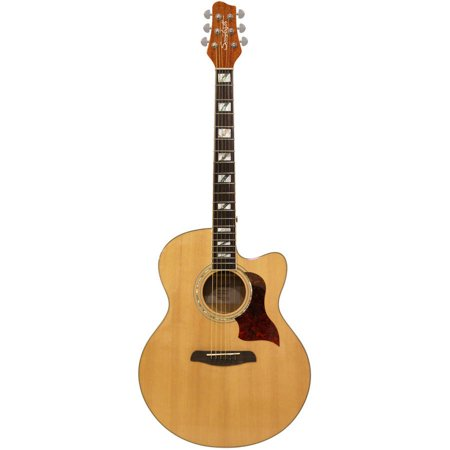 - Sawtooth Spruce Jumbo Cutaway Acoustic-Electric Guitar with Flame Maple Back and Sides