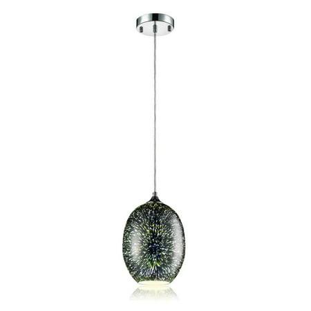 Serene Life Hanging Lamp Ceiling Light Fixture, Sculpted Glass Lighting Accent