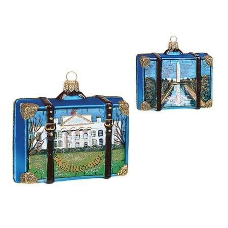 Washington DC Travel Suitcase Polish Glass Christmas Ornament ONE Decoration New - Walmart.com
