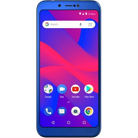 Blue Ultra Slim Cellular Phone - BLU Studio Mega 2018 S910Q 16GB Unlocked GSM Dual-SIM Phone w/ Dual 13MP + 2MP Camera - Blue