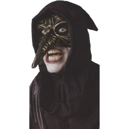 Venetian Raven Adult Halloween Mask Accessory (Black And White Venetian Mask)