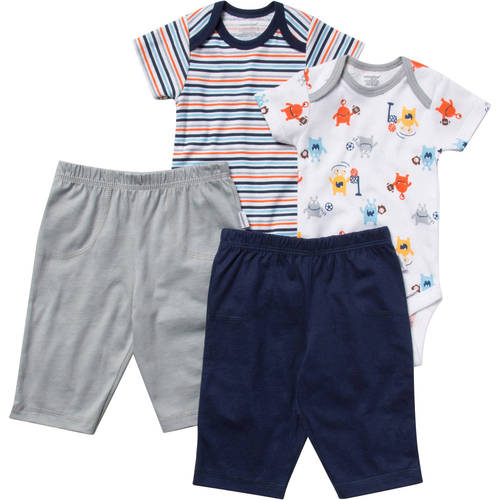 Onesies Brand Newborn Baby Boy Layette Set, 4 Pc