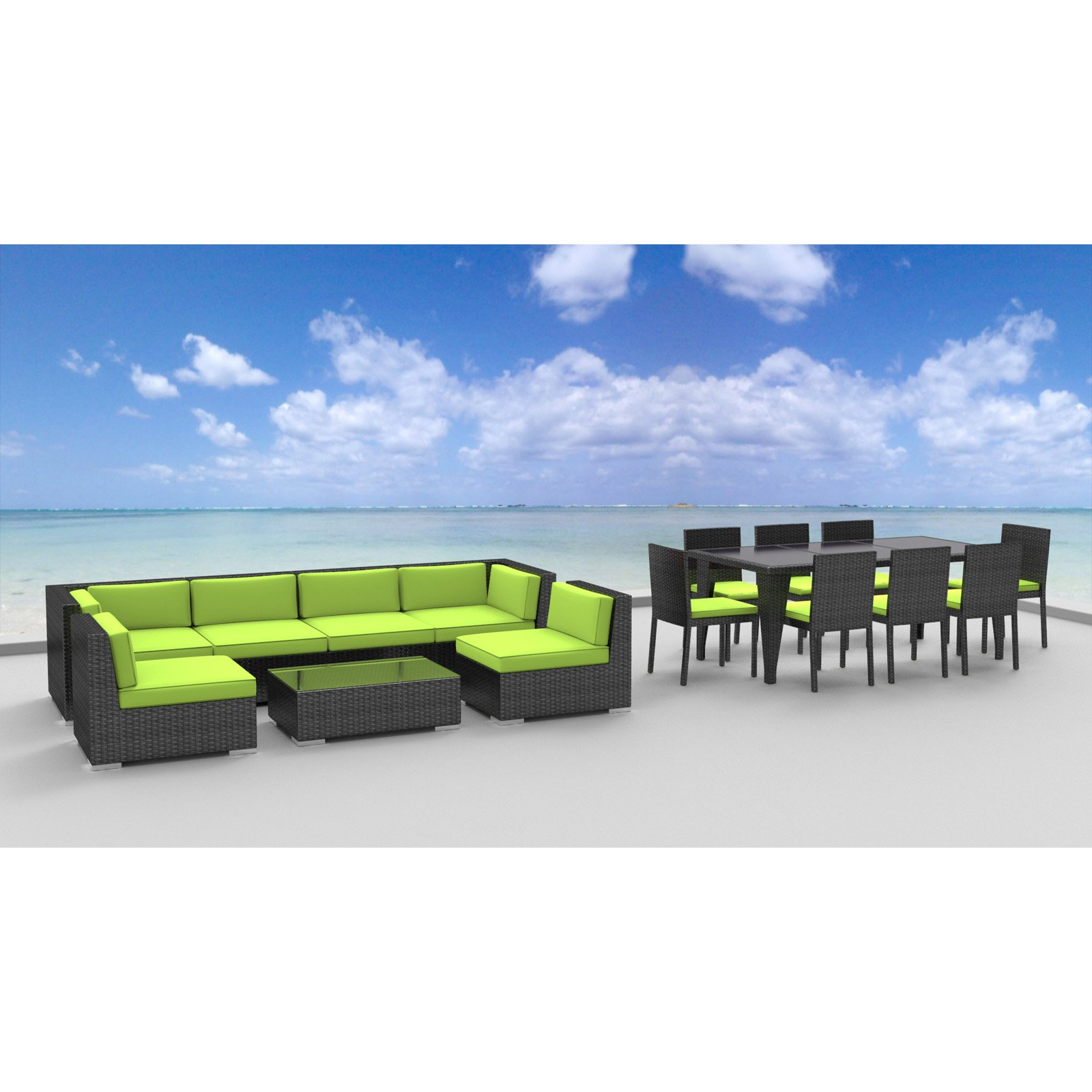 Urban Furnishing 16 Piece Outdoor Dining and Patio Furniture Set