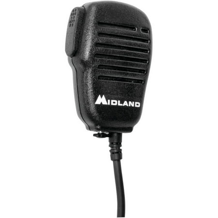 Midland AVPH10 Handheld/Wearable Speaker Microphone with Push-To-Talk for GMRS Radios