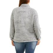 046c86ce989 Faded Glory - Women s Plus-Size Plush Sport Fleece Jacket - Walmart.com