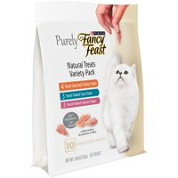 (2 Pack) Purina Fancy Feast Purely Natural Treats Variety Pack Cat Treats, 1.06 oz. Pouch