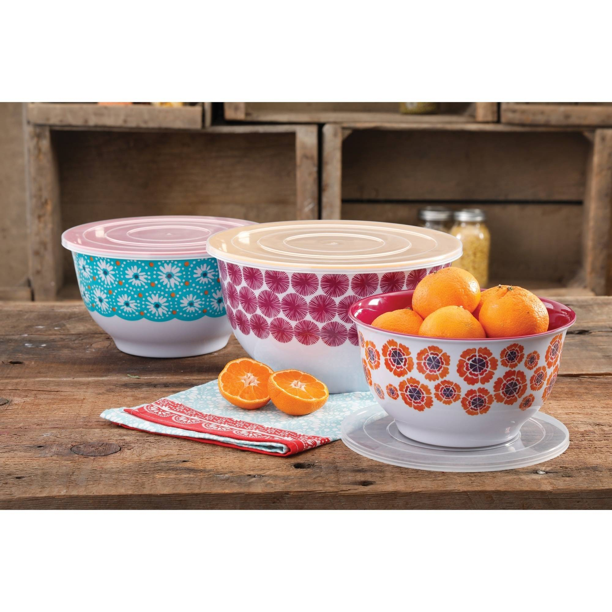 The Pioneer Woman Happiness 3-Piece Melamine Mixing Bowl Set