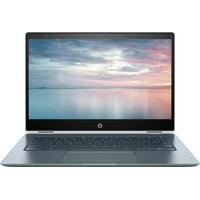 "HP - 2-in-1 14"" Touch-Screen Chromebook - Intel Core i3 - 8GB Memory - 64GB eMMC Flash Memory - HP Finish In Ceramic White And Cloud Blue Touchscreen Laptop Notebook 14-DA0011DX"