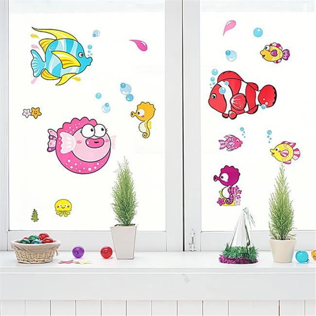 Tropical Fish - Wall Decals Stickers Appliques Home Decor