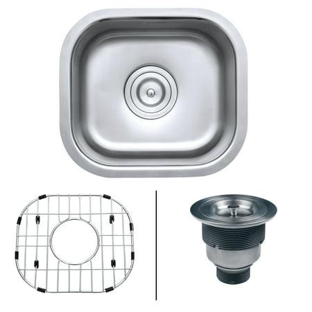 "Ruvati RVM4136 Undermount 16 Gauge 13"" by 15"" Bar Prep Sink"
