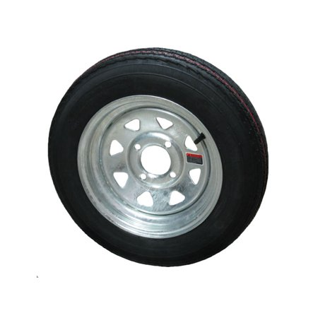 Boat Wheel - Eco-Trail 4.80-12 LRC Bias Trailer Tire & Wheel Galvanized Spoke 4-4.0 boat utility