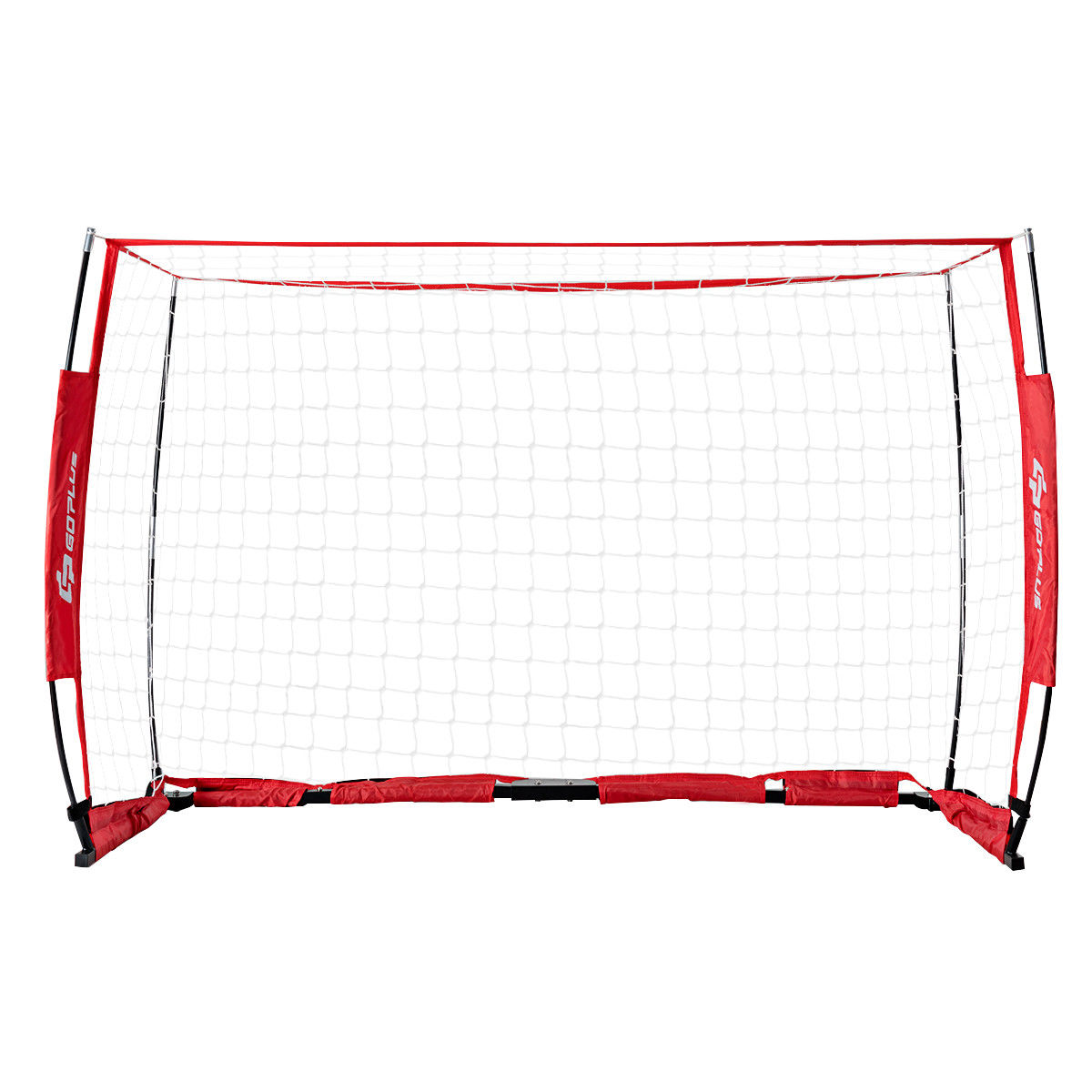 6' x 4' Soccer Goal Durable Bow Style Net Quick Setup Soccer Training w/ Bag