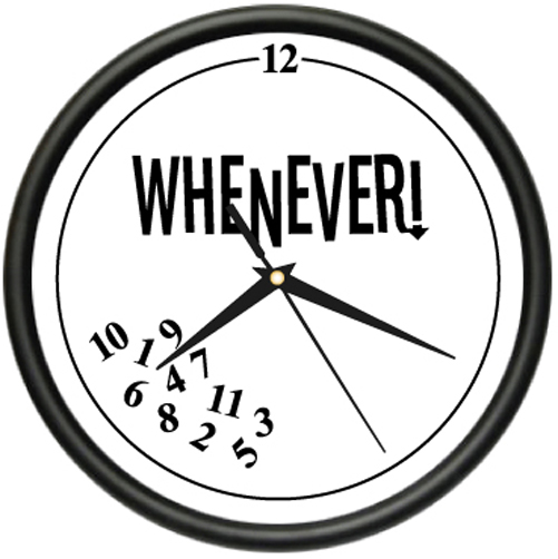WHENEVER Wall Clock retired retirement office gift