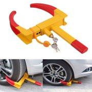 Heavy Duty Wheel Lock Clamp Boot Tire Claw Trailer Auto Car Truck ATV RV Golf Carts Automotive Boat Trailers