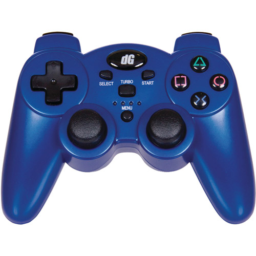 dreamGEAR DGPS3-1384 PlayStation 3 Radium Wireless Controller, Metallic Blue (PS3)