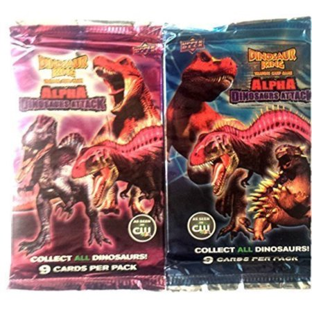 dinosaur king trading card game booster pack - 2 pack (18 cards) - Dinosaur King Cards