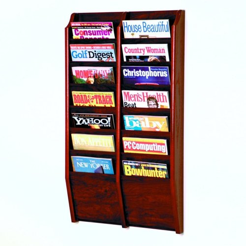 Wooden Mallet MR36-14 Wall Mount Magazine Rack