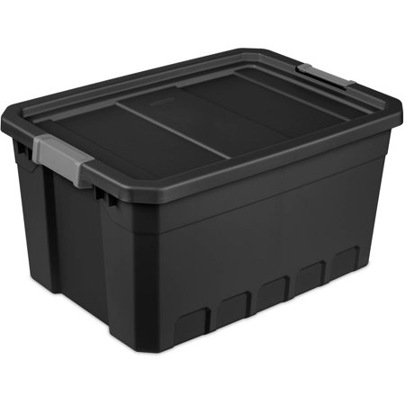 Sterilite 19 Gal Stacker Tote Black Available In Case Of