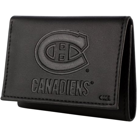 Montreal Canadiens Hybrid Tri-Fold Wallet - Black Montreal Canadiens Leather