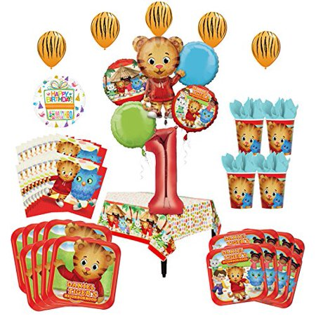 Daniel Tiger Neighborhood 1st Birthday Party Supplies and 8 Guest 53pc Balloon Decoration Kit - Halloween 1st Birthday Party Ideas