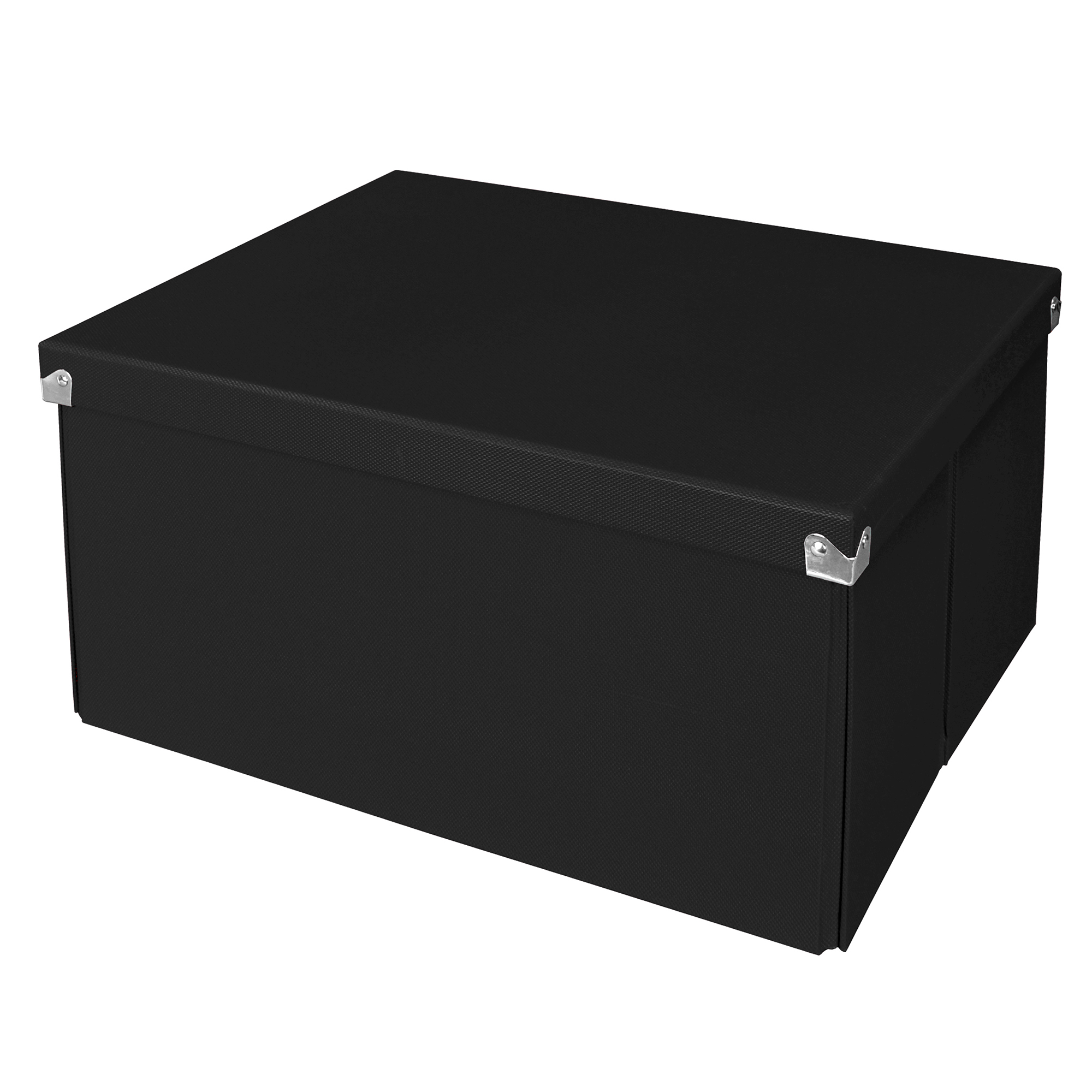 Pop N Store Decorative Collapsible Storage Box With Lid, Large Mega Box,  Black