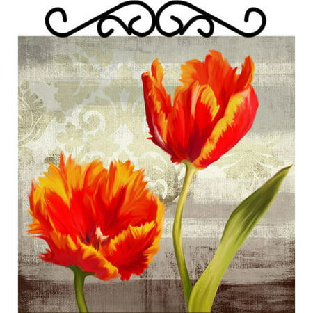 Flowers with Scroll