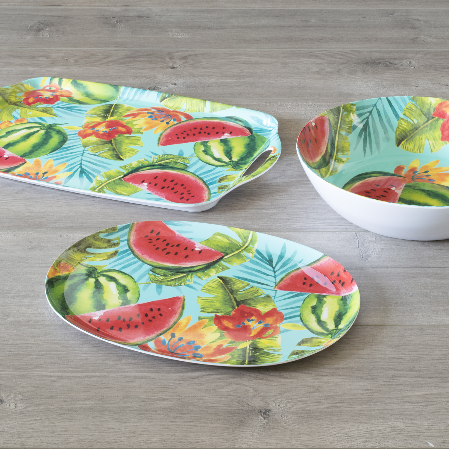 Mainstays - Watermelon 3 pieces Serving Set